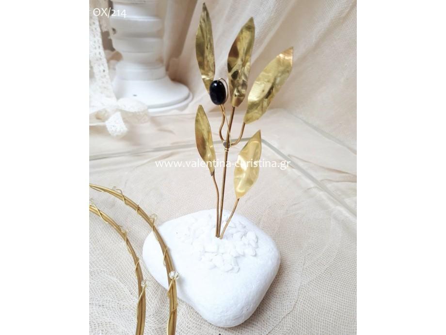 Χειροποίητες μπομπονιέρες γάμου μεταλλική ελιά απο μπρούτζο