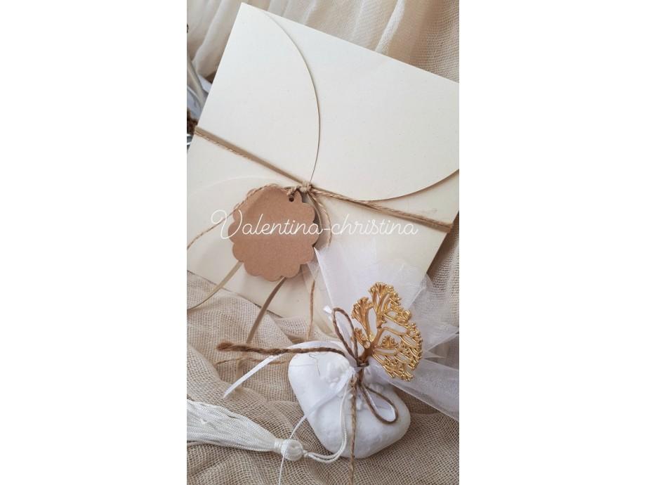 Προσκλητήριο γάμου vintage στυλ,οικονομικό