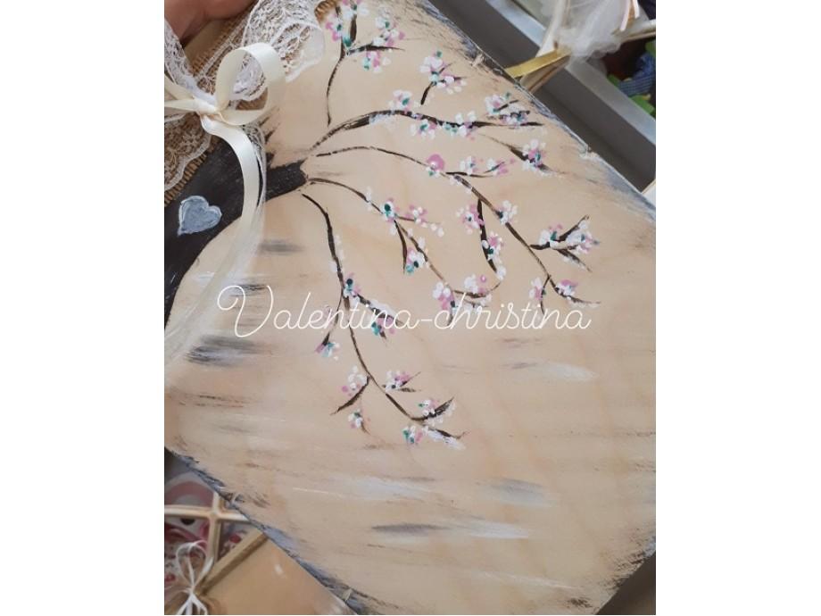 Ξύλινο ευχολόγιο γάμου βιβλίο ,δέντρο
