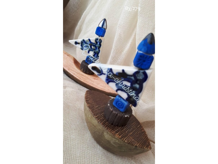Πρωτότυπες μπομπονιέρες καράβι κεραμικό με χάντρες