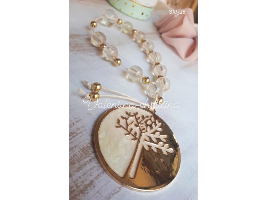 Μπομπονιέρες γάμου μεταλλικό δέντρο της ζωής σε χρυσό