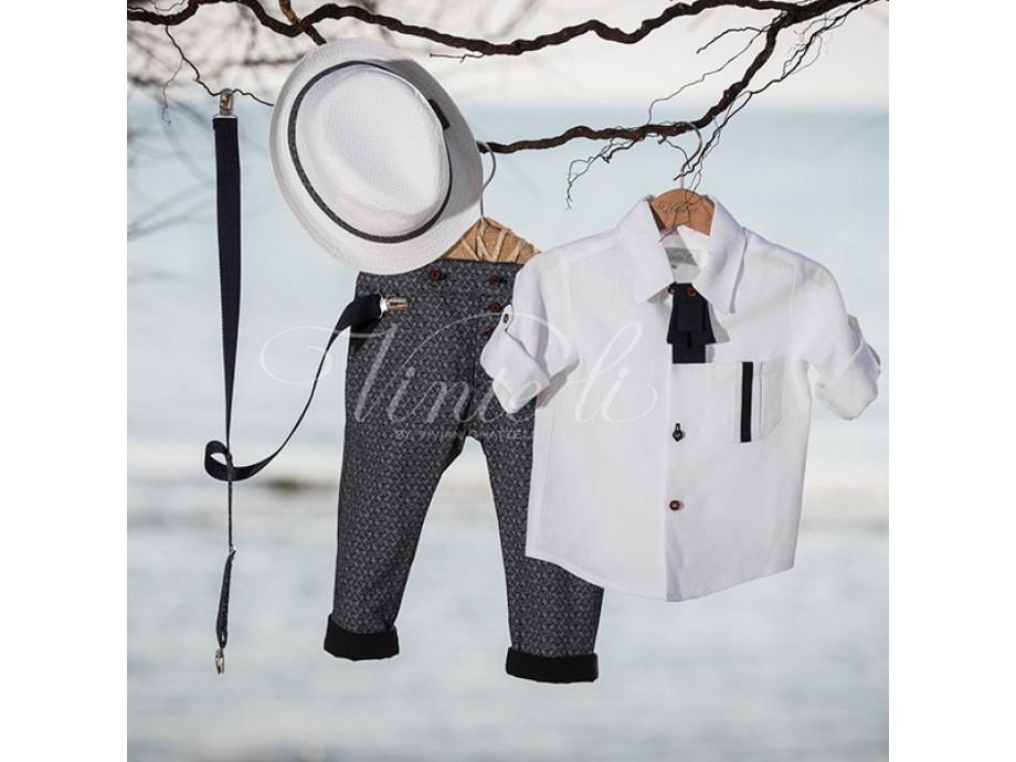 Βαπτιστικά ρούχα αγόρι λευκό πουκάμισο