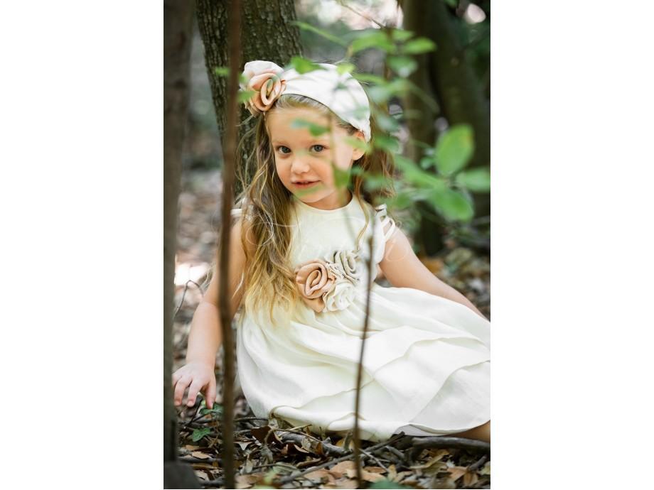 Φόρεμα μεσάτο με ιδιαίτερο σχήμα στα μανίκια
