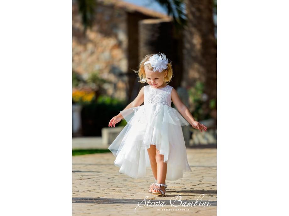 Βαπτιστικό ρούχο stova bambini ασύμμετρο