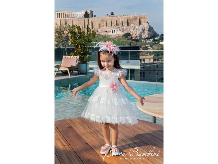 Βαπτιστικό Φόρεμα κορίτσι G06 Stova Bambini SS2020