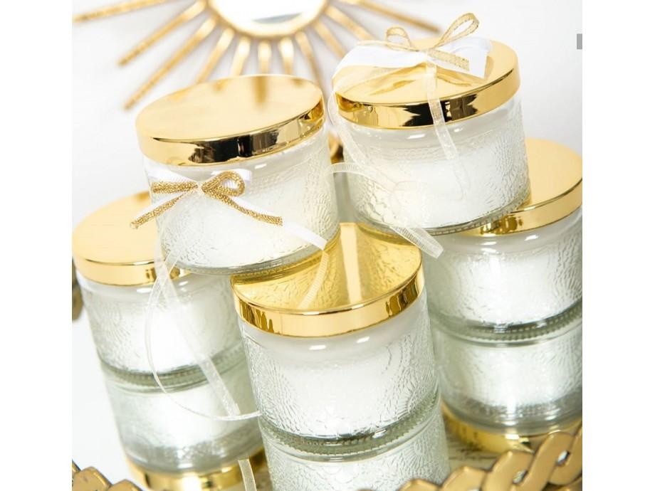 Μπομπονιέρες βάπτισης αρωματικό Κερί Jasmine