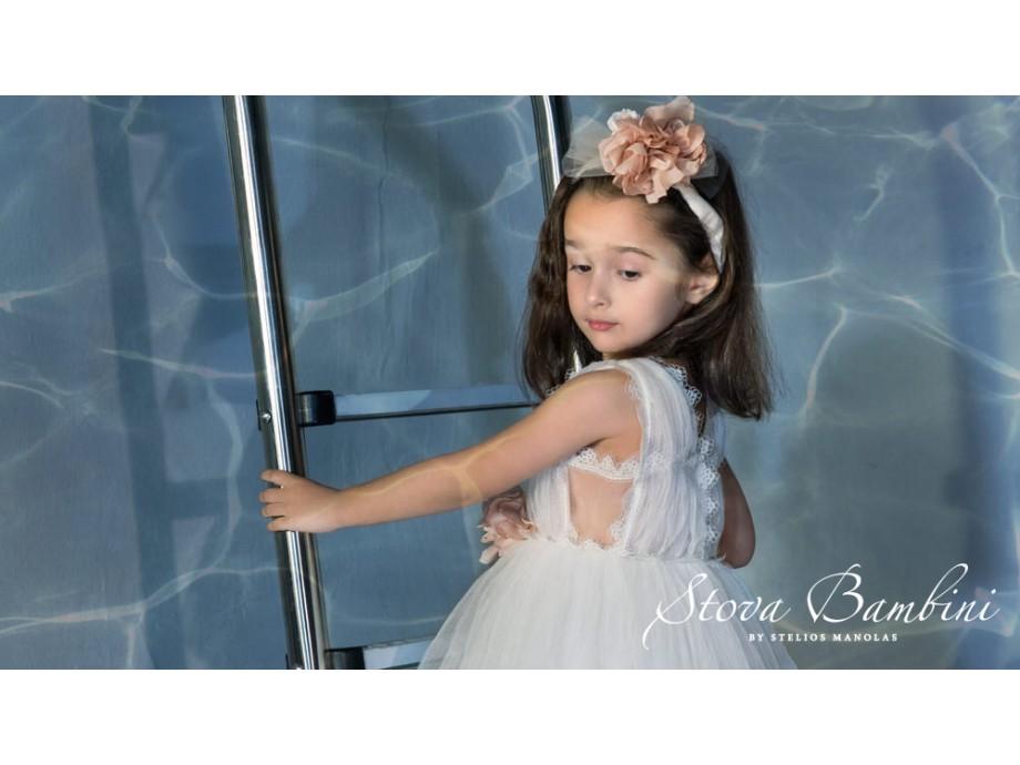 Βαπτιστικό φόρεμα Stova Bambini SS21G13 εκρού