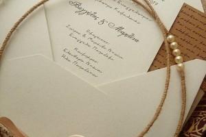 Προσκλητήρια γάμου κλασικά απλά,vintage